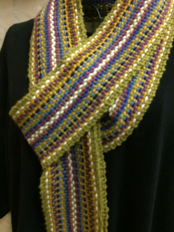 Vintage Galway -Traditional Irish Handwoven Crios or scarf
