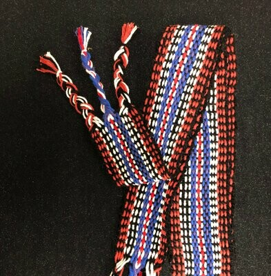 Red White and Blue- Traditional Irish Handwoven Belt