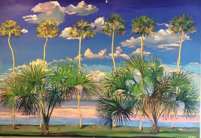 "Peter Carolin, ""Dancing Salsa Palms"" 00380"