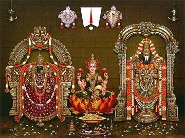 Lord Balaji, Goddess Lakshmi and Padmavati Photo Frame
