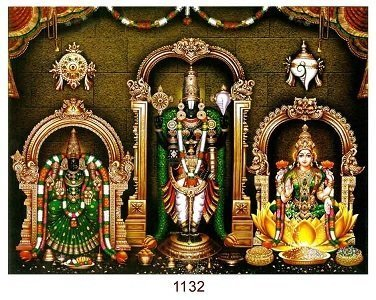 Lord Balaji, Goddess Lakshmi & Padmavati Photo Frame