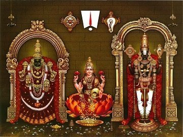 Lord Balaji, Goddess Lakshmi and Padmavati Photo Frame