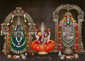 Lord Balaji, Goddess Lakshmi & Padmavati Photo Frame