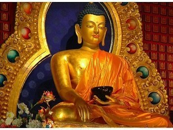 Lord Buddha Picture Print with Frame
