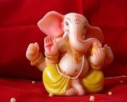 Lord Ganesh Picture Print with Frame