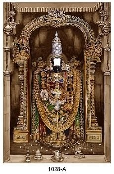 Lord Balaji Photo Frame - Matt Board Laminated