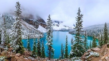 Lake Moraine Picture Print with Frame
