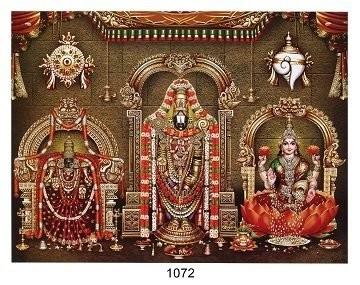 Lord Balaji, Goddess Padmavathi, Goddess Lakshmi Photo Frame