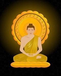 Lord Buddha Printed Art Copy Frame