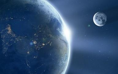 Earth and Moon - Matt Laminated Photo Frame