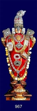 Lord Balaji Picture Print with Frame