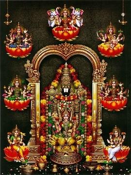 Lord Balaji & Goddess Ashta Lakshmi Photo Frame