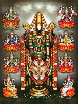 Lord Balaji and Goddess Lakshmi Photo Frame