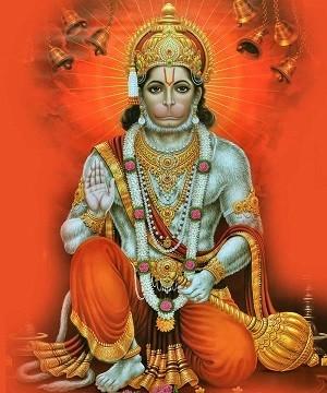 Lord Hanuman - Matt Laminated Photo Frame