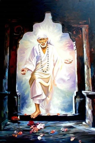 Lord Sai Baba Picture Print with Frame