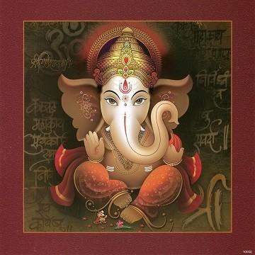 Lord Ganesh - Matt Board Laminated Photo Frame