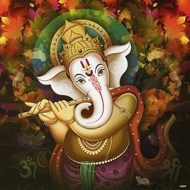Lord Ganesh - Matt Laminated Photo Frame