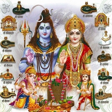 Lord Shiva and Goddess Parvati - Jyotirlinga Photo Frame
