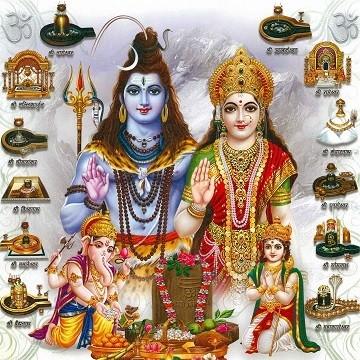 Lord Shiva and Goddess Parvati - Jyotirlinga Photo Frame (White border)