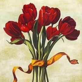 Tulips Art - Matt Laminated Photo Frame