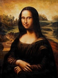 Mona Lisa Printed Art Copy with Frame