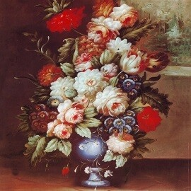 Flower Vase Printed Art Copy with Frame