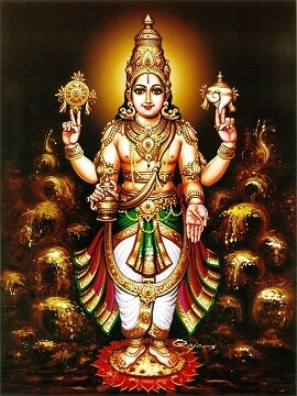 Lord Vishnu Picture Print with Frame