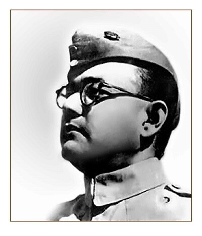 Subash Chandra Bose Picture Print with Frame
