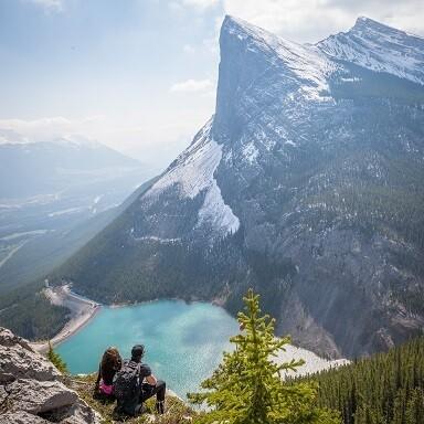 Snowy Mountain & the Lake Photo Frame