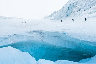 Glacier Picture Print with Frame
