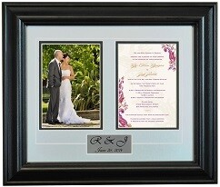 Personalized Photo Frames with Wedding card (Select Frame Size,  Upload your Wedding Photo & Invitation Card)