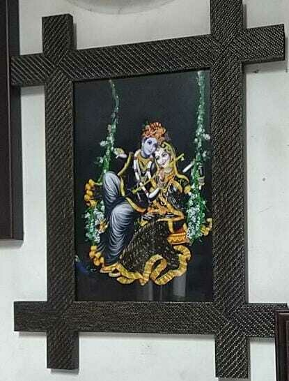 Lord Sri Krishna - Matt Laminated Photo Frame