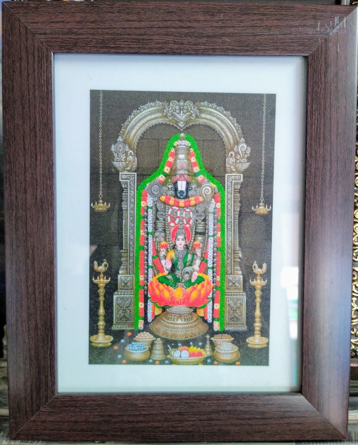 Lord Balaji & Goddess Lakshmi Photo Frame