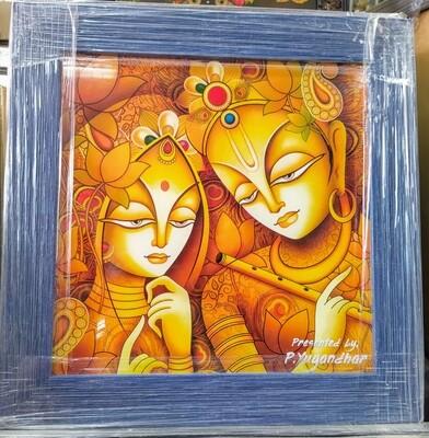 Lord Sri Krishna and Radha Devi  Photo Frame