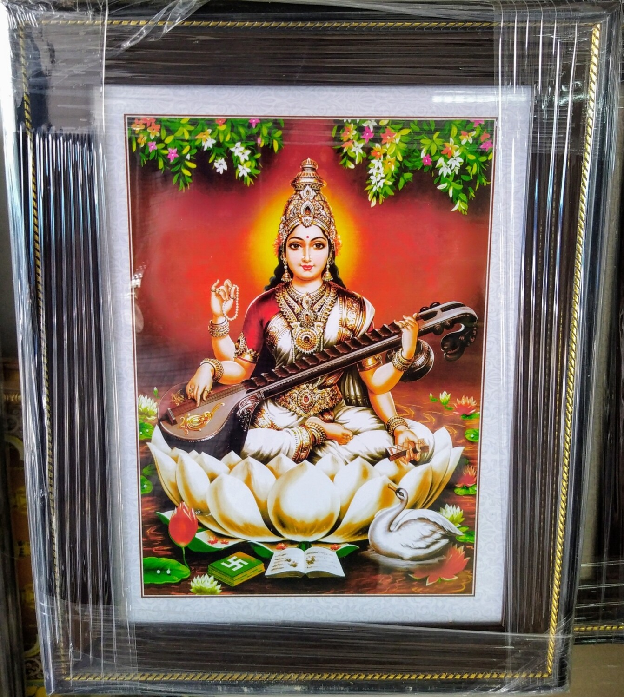 Goddess Saraswati Devi Photo Frame