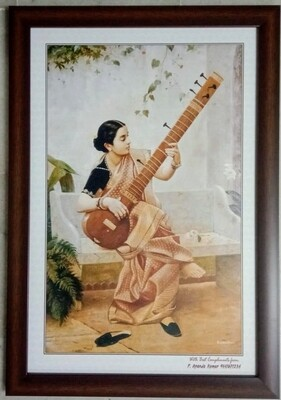 Kadambari - Raja Ravi Varma Printed Art Copy with Frame