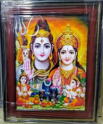 Lord Shiva & Goddess Parvati Photo Frame