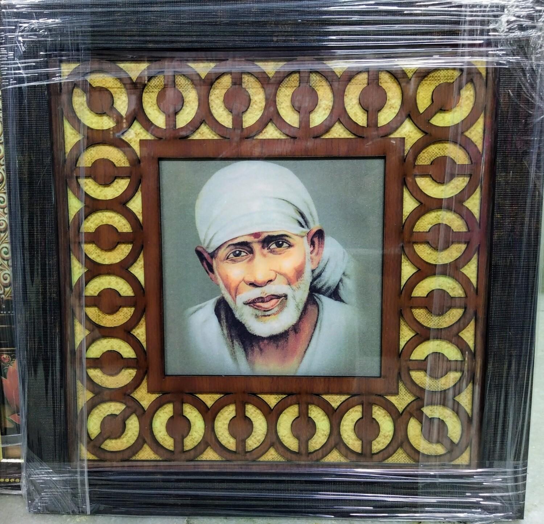 Lord Sai Baba - Wood Work Photo Frame