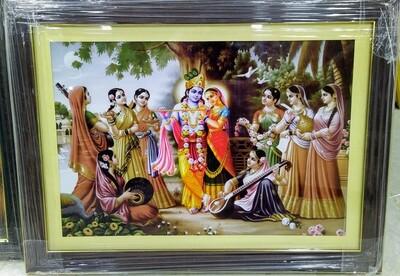 Lord Krishna and Radha Devi Photo Frame