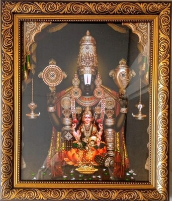 Lord Balaji and Goddess Lakshmi Photo Frame