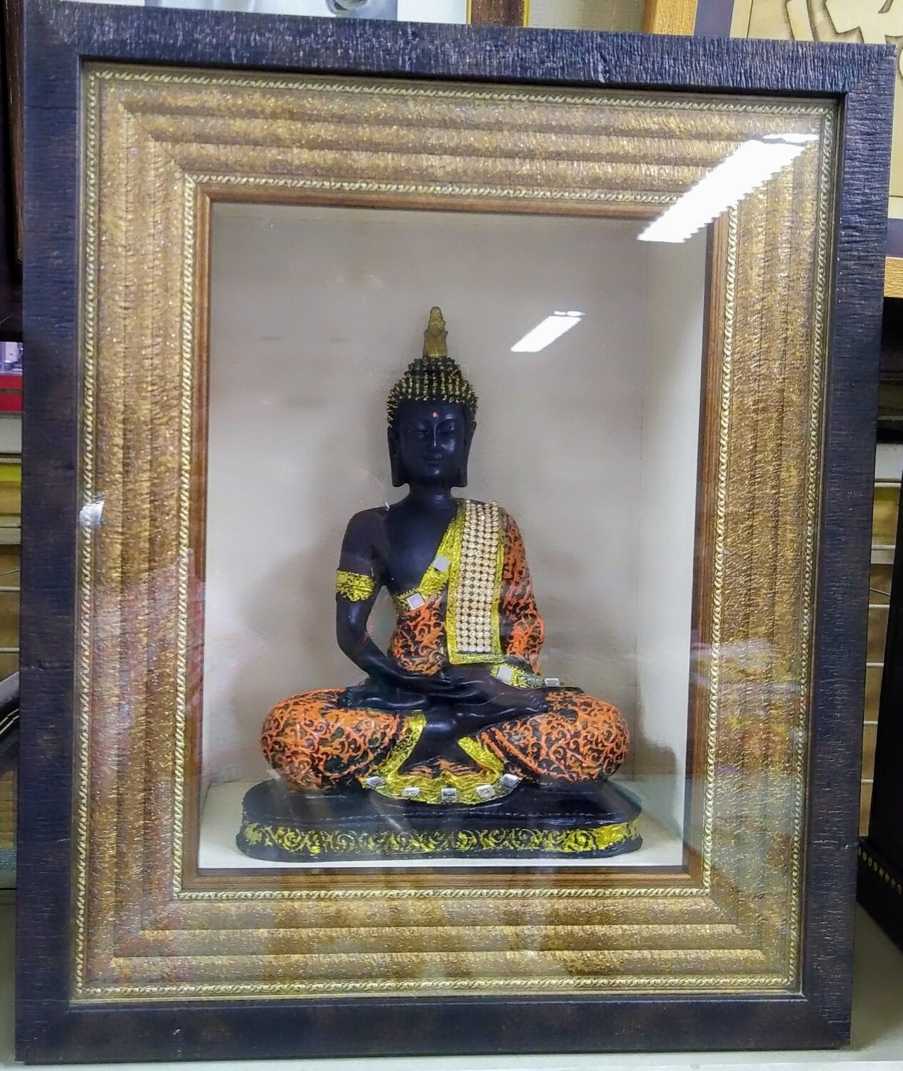 Lord Buddha idol with Box Frame