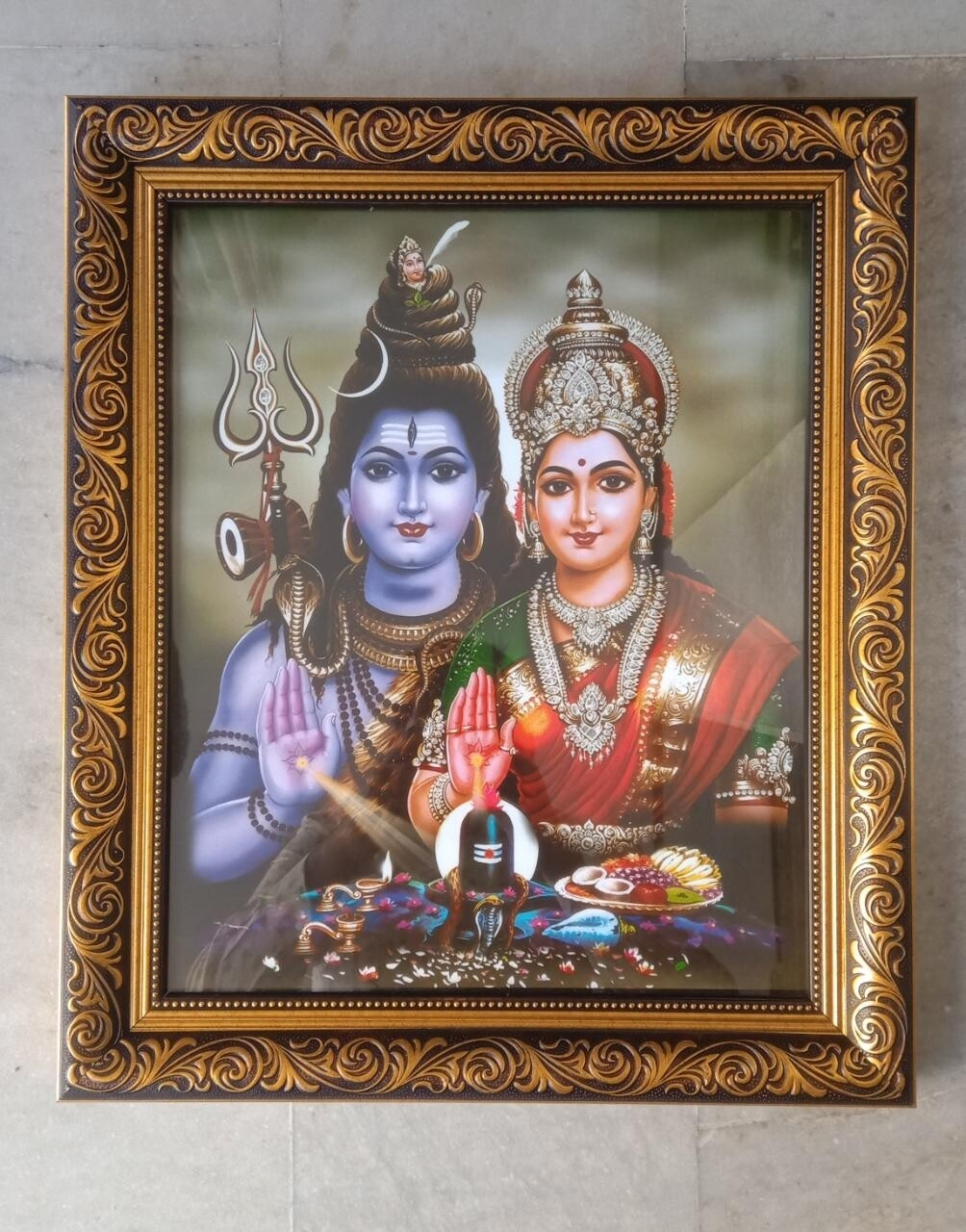 Lord Shiva & Goddess Parvati Photo Frame