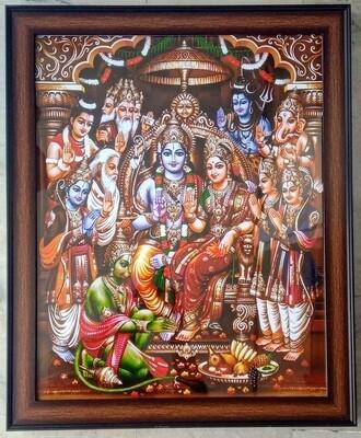 Lord Sri Rama Pattabhishekam Photo Frame