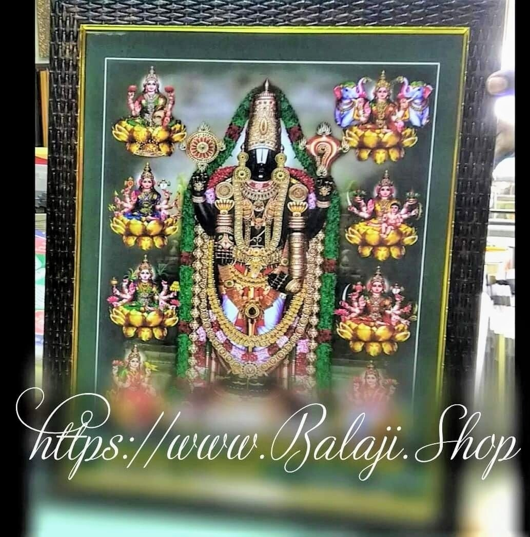 Lord Balaji and Goddess Ashta Lakshmi Photo Frame