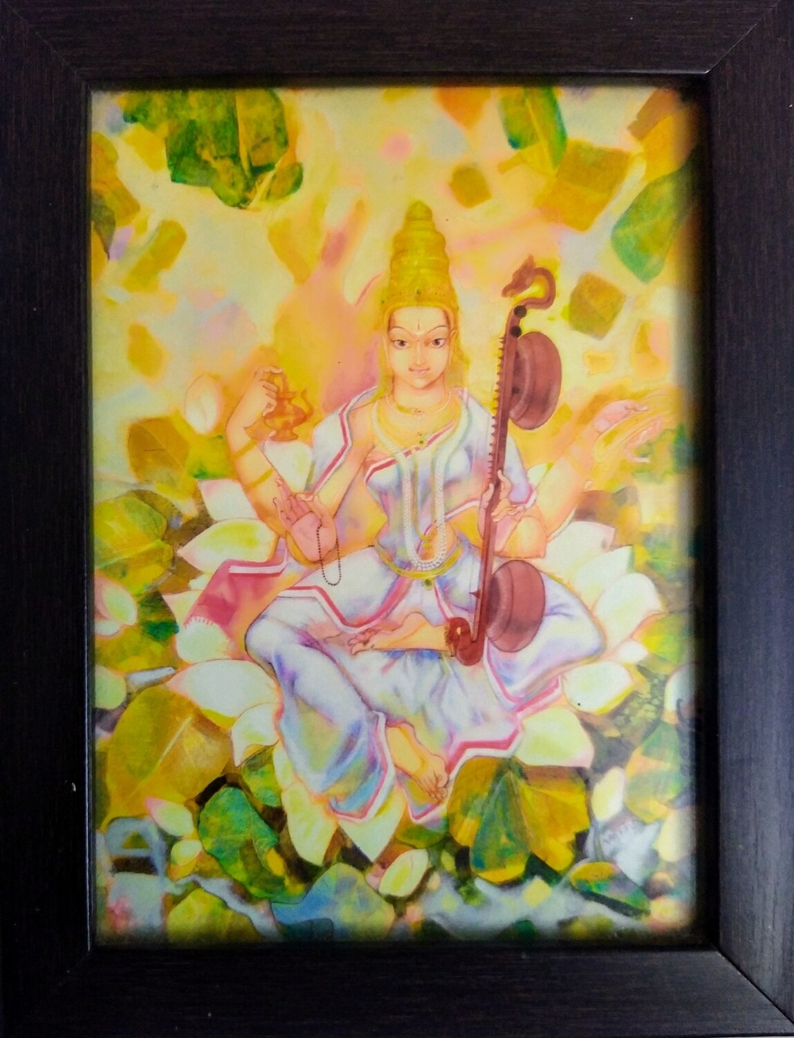 Goddess Saraswati Devi - Art Copy Photo Frame