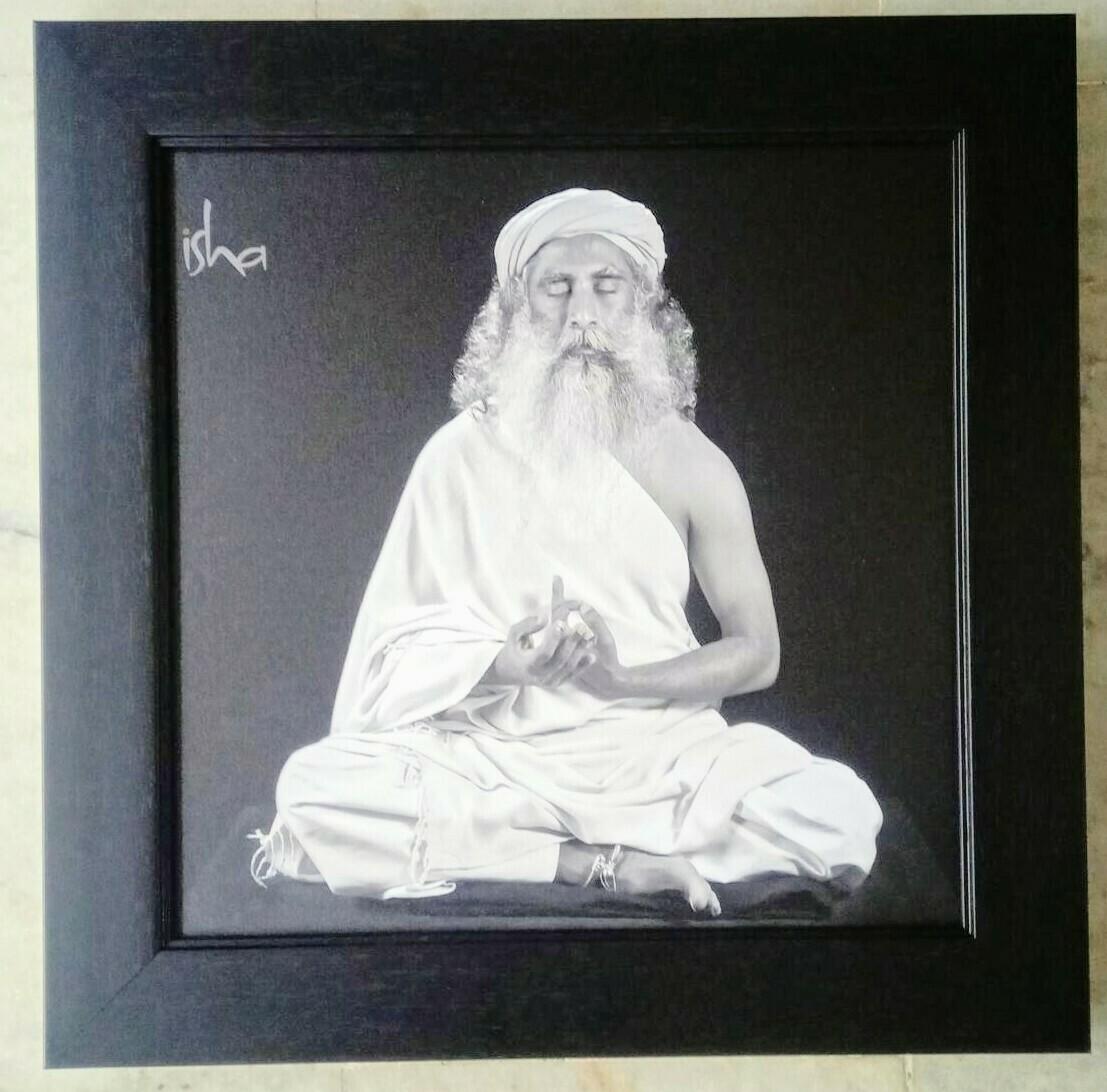 Sadhguru Jaggi Vasudev Canvas Print Frame