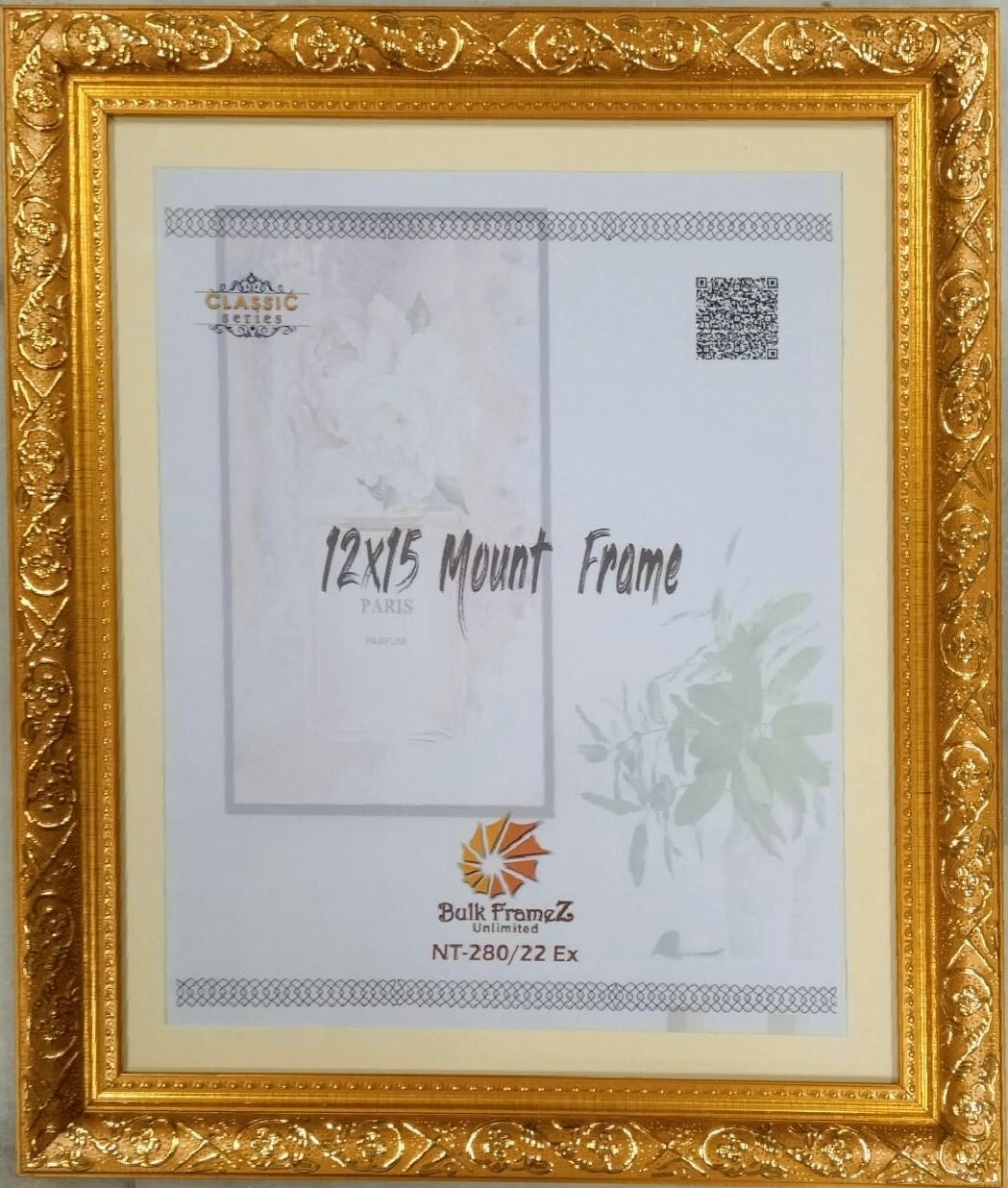 Personalized Photo Frames - Gold (Select Frame Size and Upload your Photo here)