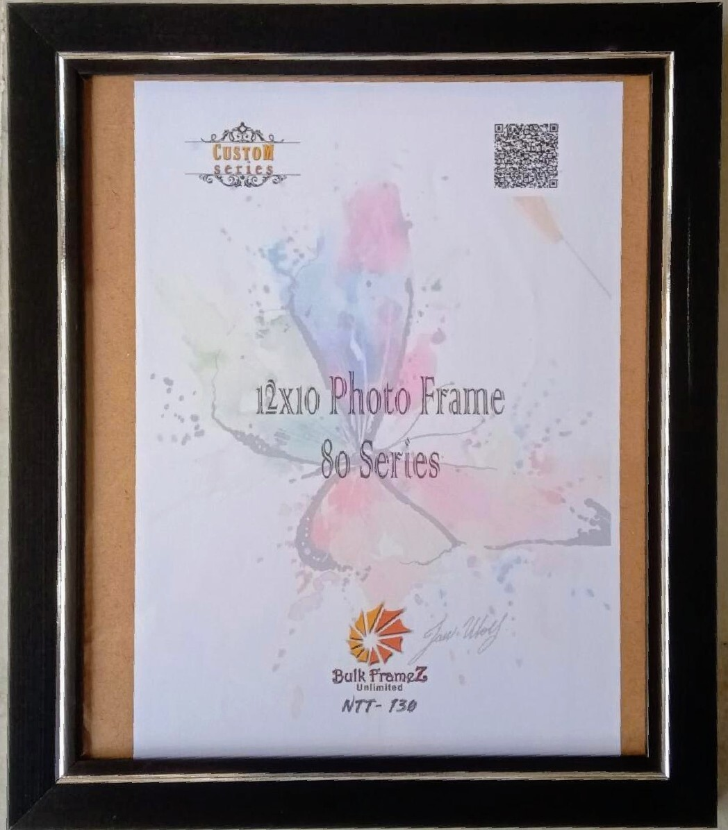 Personalized Photo Frames - Black (Select Frame Size and Upload your Photo here)