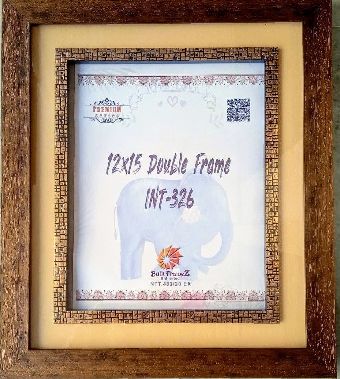Personalized Mount Photo Frames - Double (Select Frame Size and Upload your Photo here)