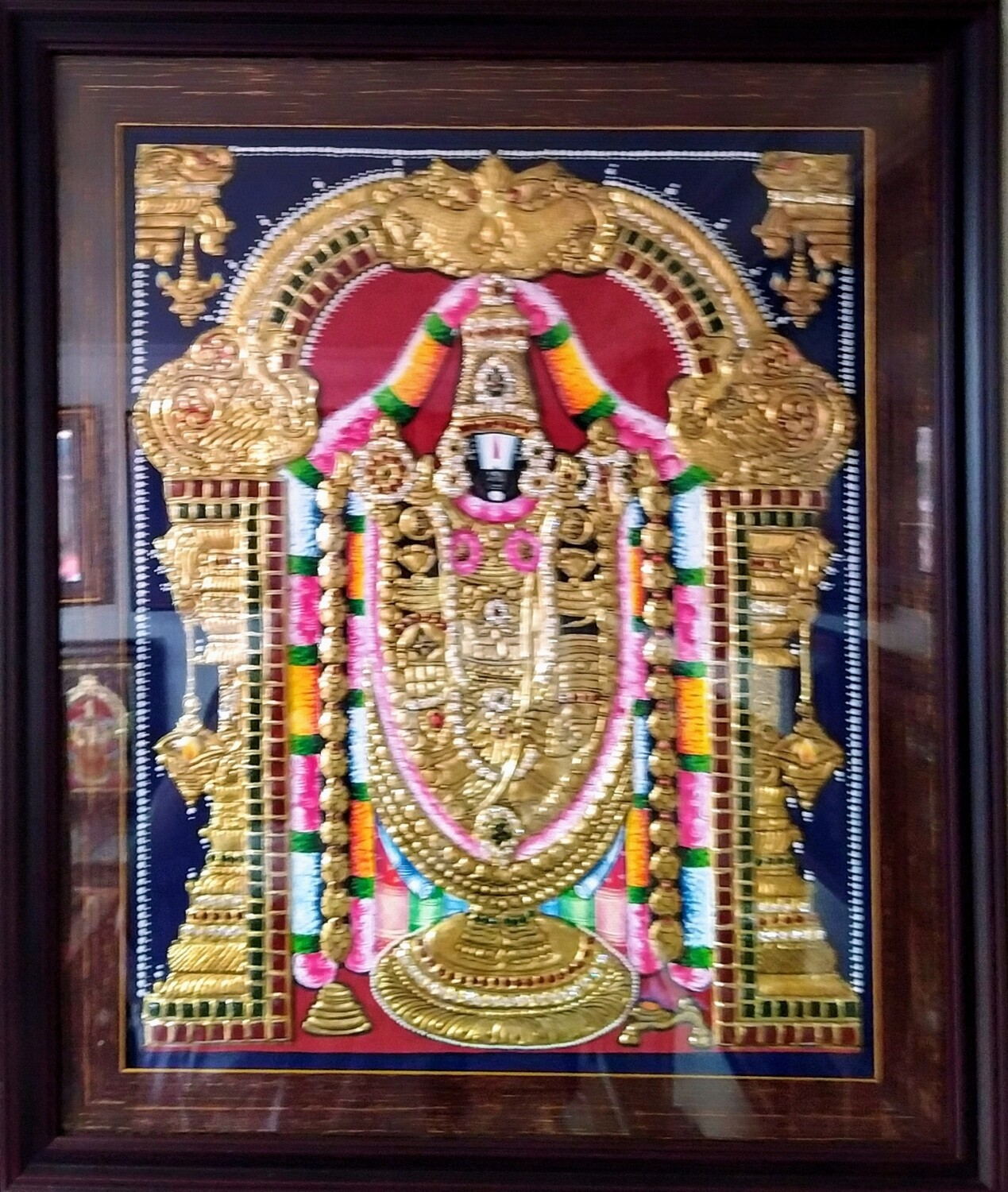 Lord Balaji - Tanjore Art work Gold Foil Frame